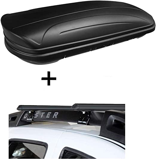 Dachbox Vdpmaa320 320ltr Abschließbar Schwarz Matt Stahl Relingträger Aurilis Original Kompatibel Mit Dacia Duster Mit Reling 5 Türer 2014 2017 Auto