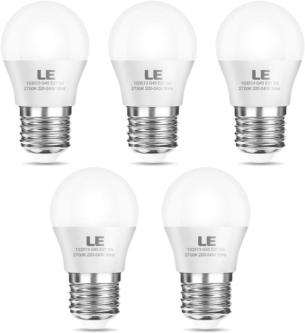 3er Set SMD LED Leuchtmittel 5 Watt E 27 Sockel 360 LM Energieeffizienzklasse A+
