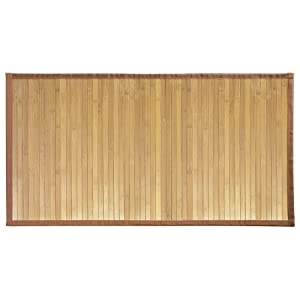 "InterDesign Bamboo Floor Mat – Ideal Mat for Kitchens, Bathrooms or Offices - 34"" x 21"", Natural"