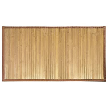 """InterDesign Bamboo Floor Mat – Ideal Mat for Kitchens, Bathrooms or Offices - 21"""" x 34"""", Natural"""