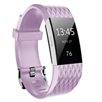 Fitbit Charge 2 Banda, Bepack Silicona Soft Silicona Adjustable Reemplazo Wristband para Fitbit Charge 2 Smartwatch Cardíaca Fitness Wristband