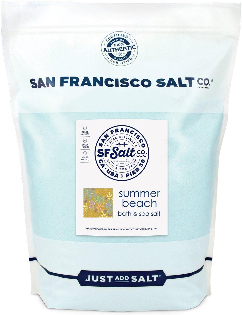 Summer Beach Bath Salts - 20 lb. Bulk Bag by San Francisco Salt Company by San Francisco Bath Salt Company