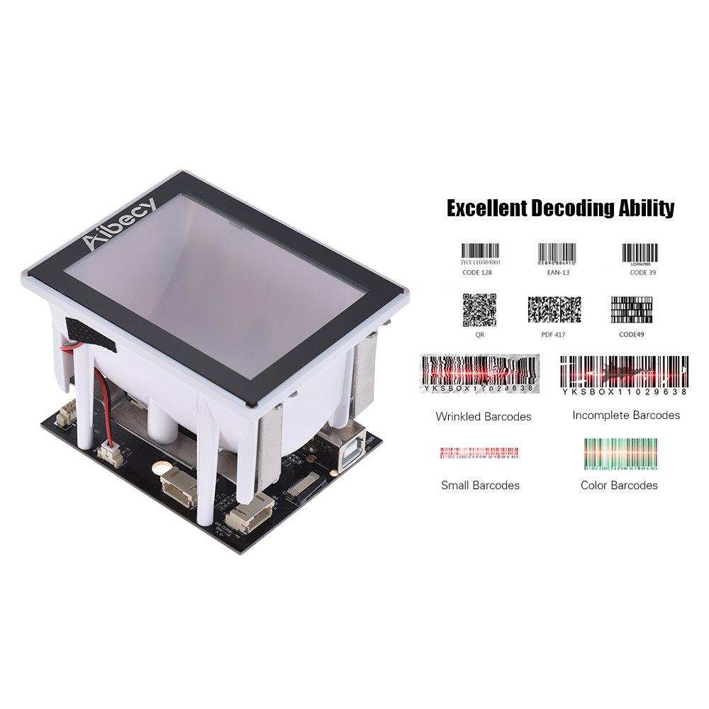 680 COMS avec interface USB QR 1D Scanner de code /à barres du scanner de code /à barres int/égr/é 960 Aibecy 2D
