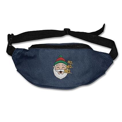 9b4f08ac5c148b Amazon.com : HO HO HO Santa Claus Running Waist Pack Bag Travel Sports  Little Pocket For Hiking Climbing Men Women : Sports & Outdoors