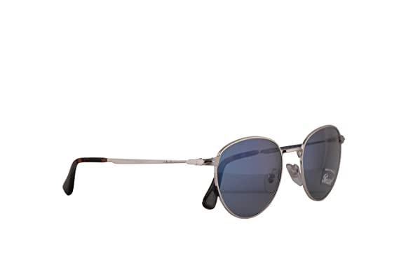 59c9af328d Image Unavailable. Image not available for. Color  Persol PO2445S Sunglasses  Silver w Light Blue Lens 52mm 51856 ...