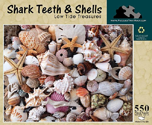 Shark Teeth and Shells Low Tide Treasures, 550 Piece Puzzle