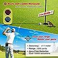 Bozily Golf Rangefinder, 6X Laser Range Finder 1500 Yards, Flag-Lock, Slope ON/Off, 4 Scan Mode, Linear & Vertical Distance, Angle & Speed Measurement,Fog Resistant- Tournament Legal Golf Rangefinder by Bozily