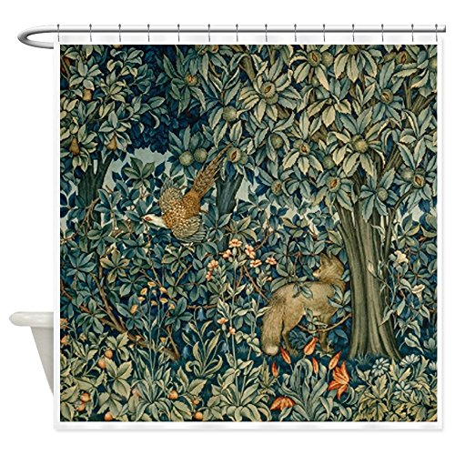 William Morris Iron (CafePress - William Morris Greenery - Decorative Fabric Shower Curtain)