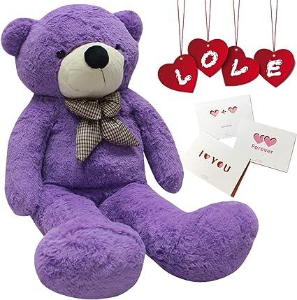 Dark Brown, 31 inch Happy Island Big Cute Plush Teddy Bear Huge Plush Animals Teddy Bear Girl Children Girlfriend Valentines Day White