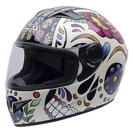 NZI Must II Graphics Casco De Moto(Mexican Skulls,Medio)