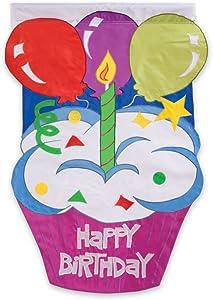 Happy Birthday Garden Size Applique Flag