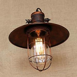 BAYCHEER HL421422 - Lámpara de pared con casquillo E26/27, estilo retro, estilo industrial, estilo vintage, cobre, metal envejecido