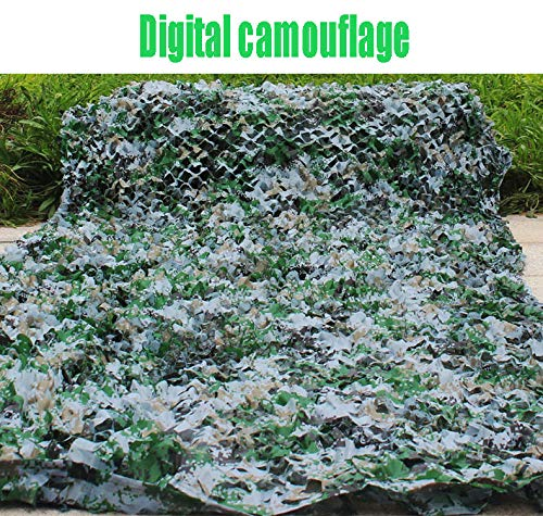 2m×3mオックスフォードサンズデジタルジャングル迷彩ネット雪の海迷彩ネット、狩猟射撃隠すキャンプ、屋外の写真デコレーション、キャンプの避難所 (色 : Digital, サイズ さいず : 6×10m)   B07QBZPYDQ