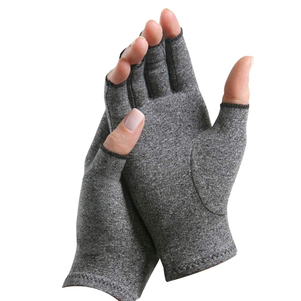 Arthritis Gloves Compression Gloves for Women and Men,Gloves for Arthritis Hands,Alleviate Rheumatoid Pains, for Computer Typing, Dailywork, Hands and Joints Pain Relief (Gray, M)