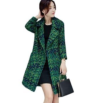 EGCRA Abrigos Blends De Mujer Abrigo De Invierno Otoño Abrigo De Mujer Chaquetas De Tweed De