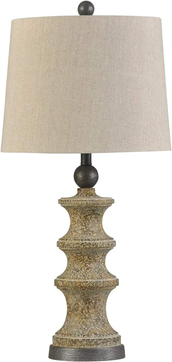 Stylecraft Home Collection L315444ds Signature 32 Inch 150 Watt Beige Table Lamp Portable Light Amazon Com