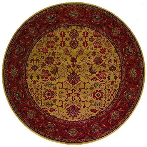 Octagon Rug Harvest Gold (Couristan 3773/4874 Everest Tabriz/Harvest Gold 5-Feet 3-Inch Round Rug)