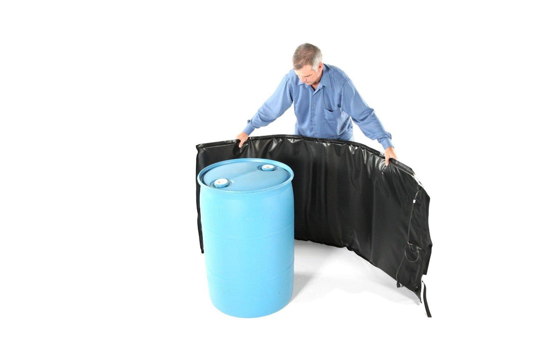Powerblanket BH55PRO-240V Industrial grade/ weather resistant D-15 vinyl shell 55 gal Drum Heating Blanket with Adjustable Thermostat Controller, 240V, Black