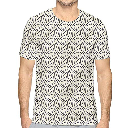 t Shirt for Men Abstract,Black Lines Modern Art Custom t Shirt M