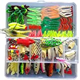 KMBEST Fishing Lure Set Including Spoon Lures,...