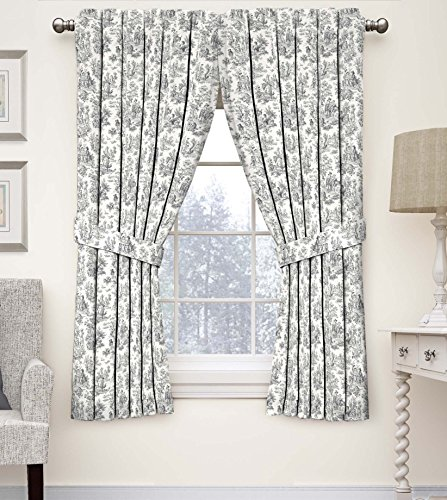 Waverly 15402052084OYX Floral Window Curtain, 52