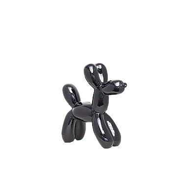 "Interior Illusions Plus ii00390 Black Balloon Dog Bank, 12"": Home & Kitchen"