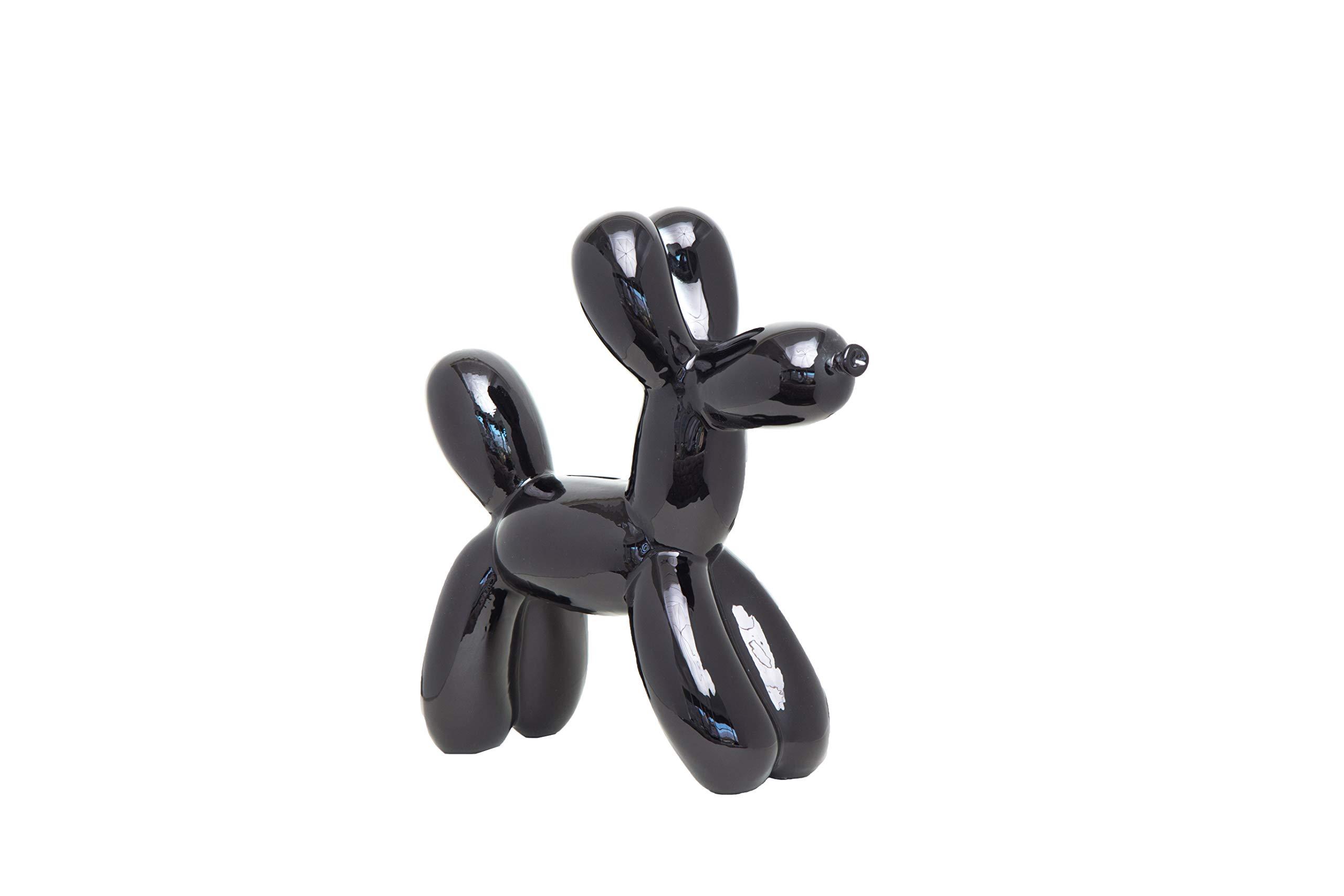 Interior Illusions Plus ii00390 Black Balloon Dog Bank, 12''