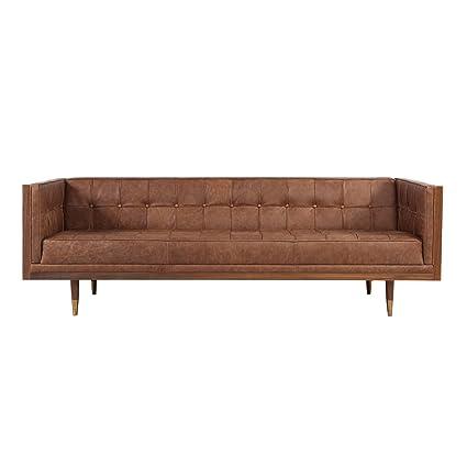 Amazon.com: Kardiel Woodrow Midcentury Modern Box Sofa, Vintage ...