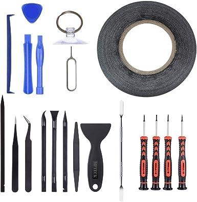 MPTECK @ 20 en 1 Kit de reparación de herramientas de precisión destornillador Herramienta de Desmontaje para
