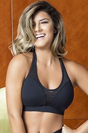 f22ac654ca9e3 OXYFIT Meshed Cleavage Pilates Sports Bra at Amazon Women s Clothing ...