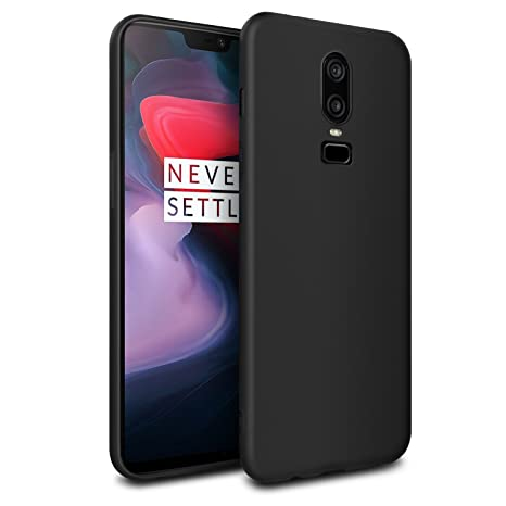 JUMP START Shockproof Ultra Slim Fit Silicone TPU Soft Gel Rubber Back Cover for OnePlus 6(Black) Mobile Phone Accessory Kits at amazon