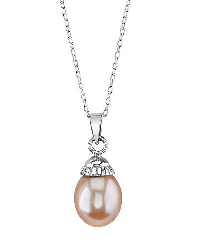 beffc6b4316c 14K 10mm Drop Shaped Pink Freshwater Cultured Pearl Devon Pendant:  Amazon.co.uk: Jewellery