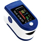 Oxímetro y Pulsómetro para Monitoreo de Saturación de Oxígeno Latidos por Minuto con Pletismografía Saturación de Oxígeno Dos