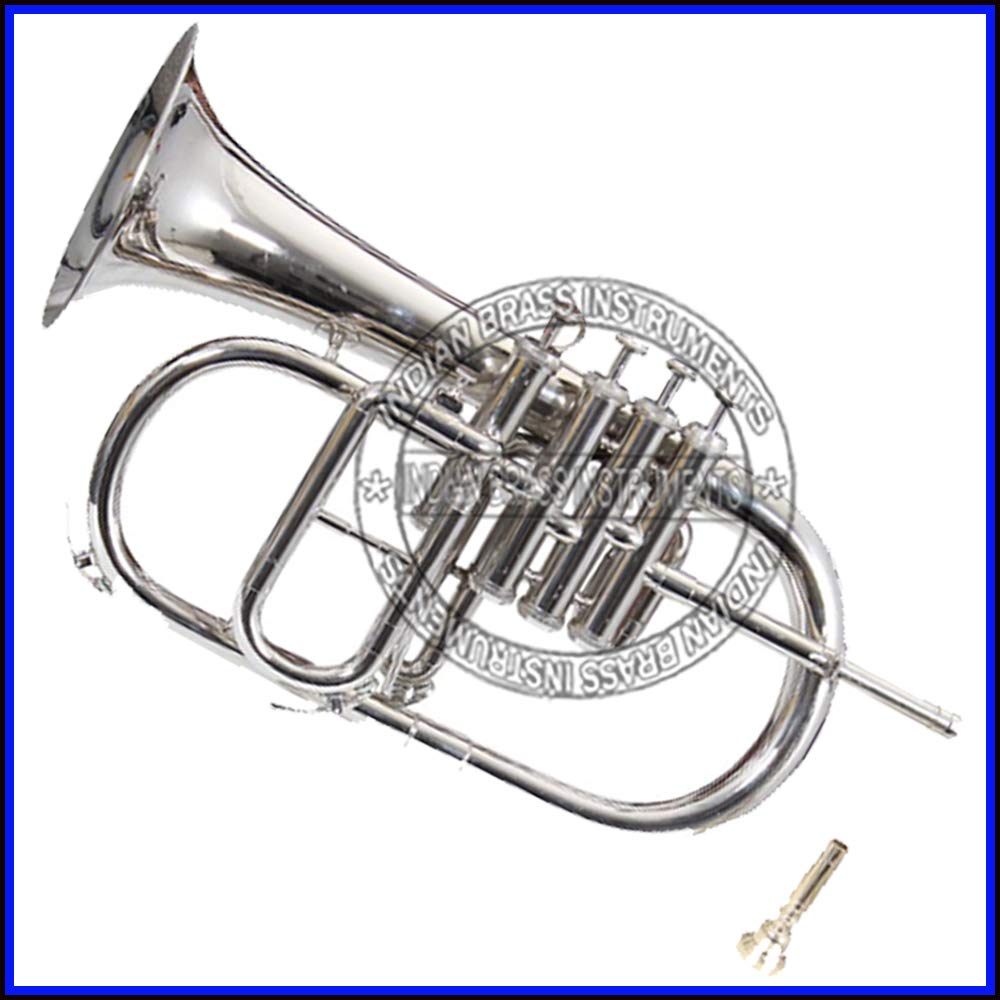 NASIR ALI FLUGEL HORN Bb PITCH NICKEL SILVER 4 VALVE WITH FREE HARD CASE + MOUTHPIECE