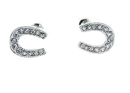 Stud Earrings [Lucky Horseshoe] – Hypoallergenic –
