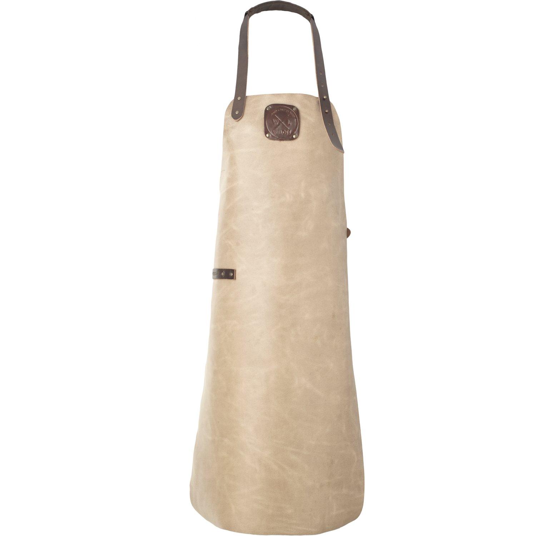 Taupe//Dark Brown Witloft Leather Apron