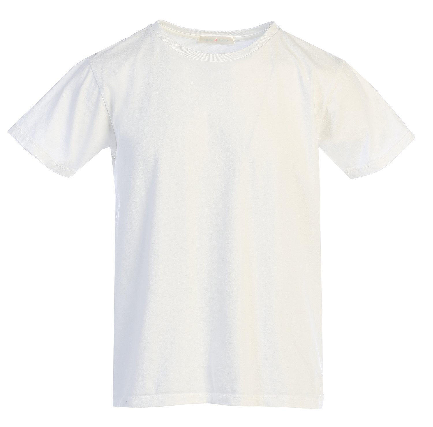 LAFSQ Unisex Plain Classic Style Premium Fine Jersey T-Shirt Top, Made In USA (White, M)