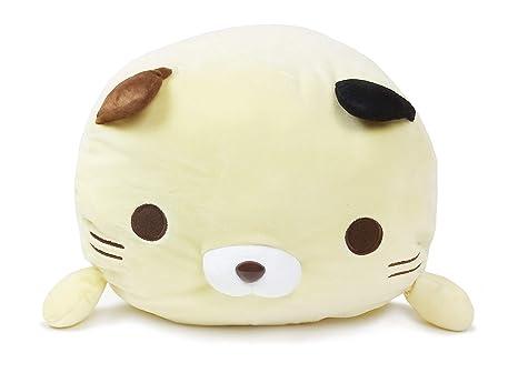 Sasurai No Tabineco YAMANI Japanese Mr  Mikemura Fuwa Mochi Super Cute,  Soft & Squishy Large Stuffed Plush Animal Series (Tri-Color Cat (Mikemura))