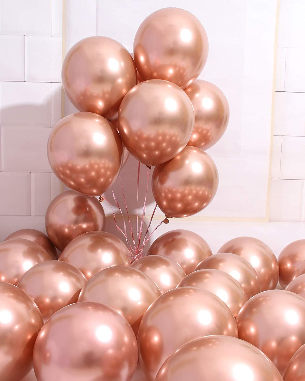 Rose Gold Chrome Silver Chrome Gold Latex Balloons Rose Gold Balloons Rose Gold and Gold Party Gold and Rose Gold Shower Wedding