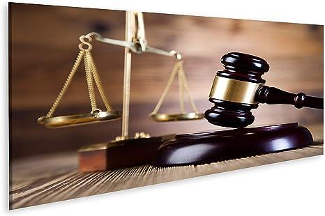 islandburner Quadro su Tela Bilancia della Giustizia Martello e Libro di  leggi Stampa Foto Quadri Moderni: Amazon.it: Casa e cucina