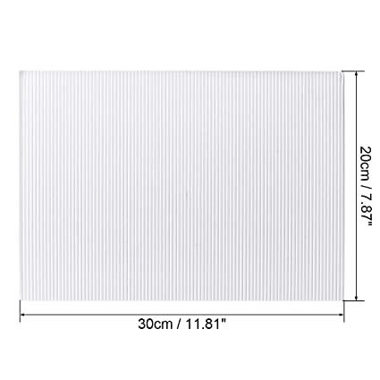 uxcell 10pcs Corrugated Cardboard Paper Sheets,White,7.87-inch x 11.86-inch,for Craft and DIY Projects