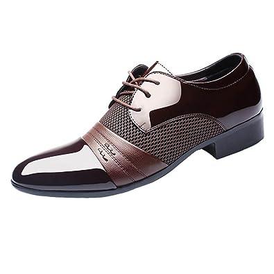 Chaussures Hommes flâneurs cuir laçage noir 48 zalBzZz