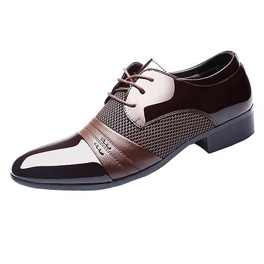6bc246c58c231 Hombre Negocio Zapatos Formal Zapatos con Cordones Boda Vestir Zapatos  Casual PU Cuero Zapatos 39-48 Juleya