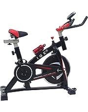 ISE Vélo D'appartement Ergomètre Cardio Vélo de Biking avec Programme et l'Ecran LCD,Cardiofréquencemètre,Support capitonné pour Bras,Porte-Bouteille,Bouteille,Poids d'inertie 10 KG,Silencieux