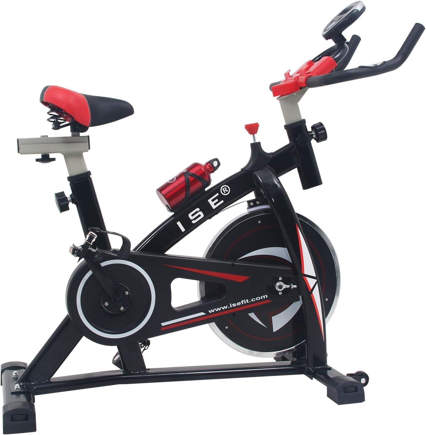 ISE Bicicleta Spinning Estática con Sensor de Pulso, Volante de ...