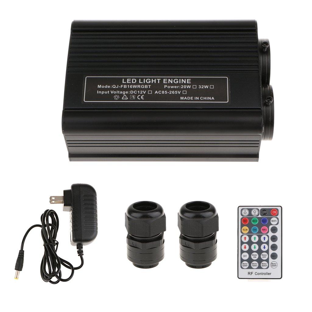 Jili Online 32W RGBW Double Head LED Light Generator Optic Fiber Light Engine-US Plug
