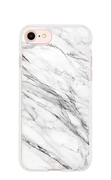 best website e6b4a 5ee69 Casery iPhone 8, iPhone 7/6 Case, White Marble (Light Stone) - Military  Grade Protection - Drop Tested - Protective Slim Clear Case for Apple  iPhone ...