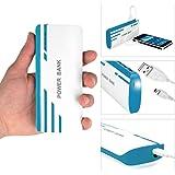 Batterie externe 30000mAh , 3.7V/48Wh - Chargeur blanc et bleu pour Iphone, Ipad, Smartphones, Android, MP3, MP4, GPS- Batterie de secours de haute qualité avec port USB/Mini USB