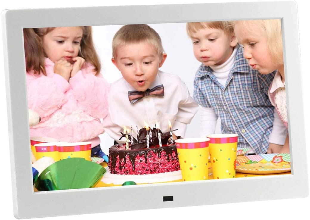 Color : White Built in Stereo Speaker Lihuoxiu Consumer Electronics HSD-P520 10.1 inch LCD Display Digital Photo Frame with Holder /& Remote Control EU//US//UK Plug Black Support USB//SD Card Input