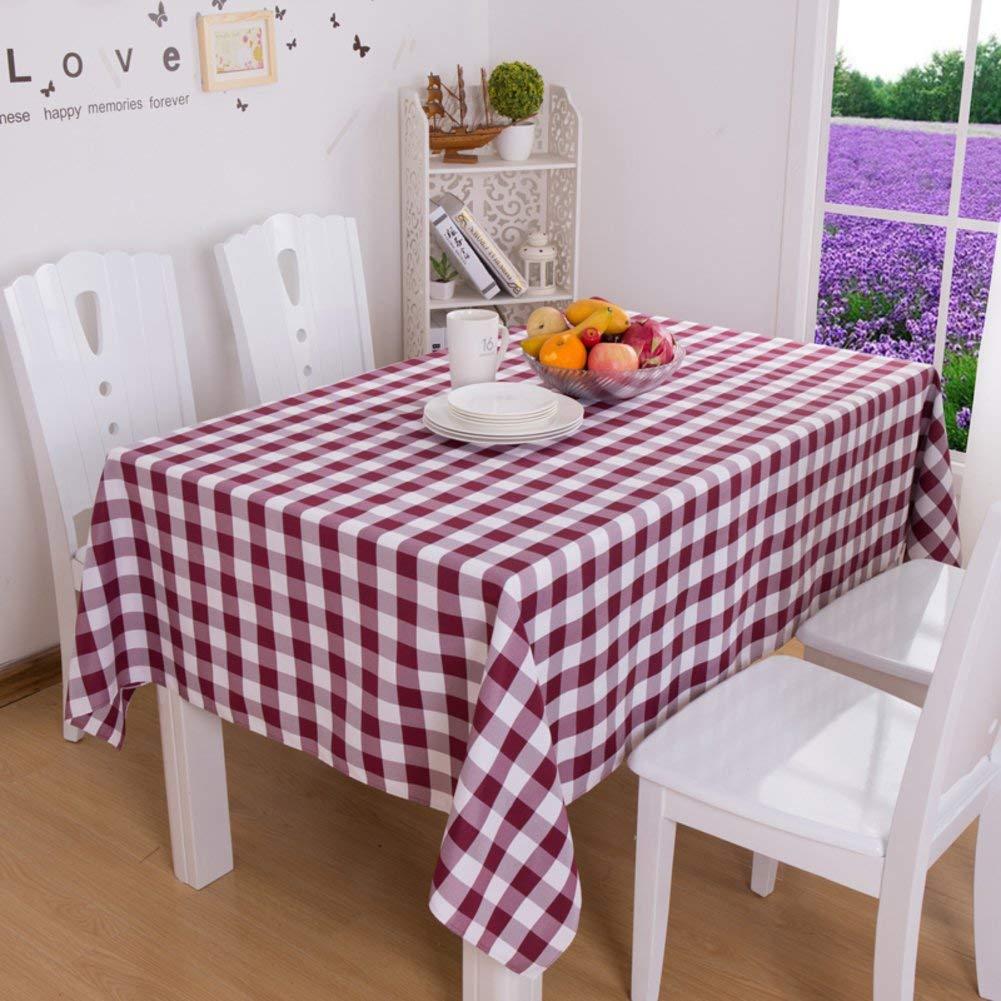 Shuangdeng 格子テーブルクロスホテルのテーブルクロスのスタイルテーブルクロス (Color : F, サイズ : 90x90cm(35x35inch))   B07SCHL8C7